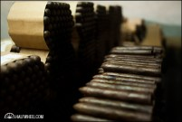 RoMa Craft Tobac cigars waiting to be inspected after being rolled.