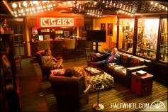 The downstairs member's lounge at the Nat Sherman Townhouse.