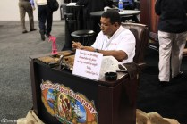 There was a cigar roller from Carolina Cigar Co., which is part of Rouseco, who is known for its lines of pipe tobacco.