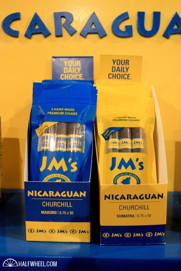 JM Tobacco was showing off a number of its airtight packs, which use food-grade plastic to seal in a factory-fresh taste.