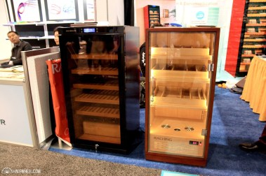 There were a number of Chinese companies at the show, including Raching, which makes humidors and wine refrigerators for a number of applications from home use to large scale installations. They brought along these two humidors, which would cost less than $1,000 each in the U.S.
