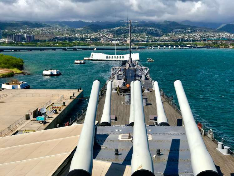Battleship Missouri Arizona Memorial View