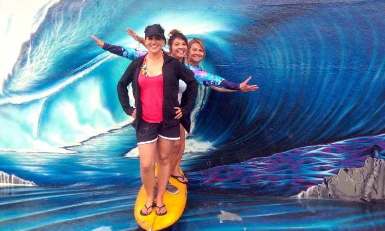 Guests Having fun in Haleiwa
