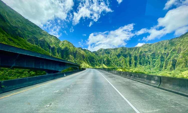 Scenic Oahu Mountain Drive