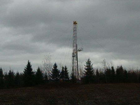 Photo taken last fall when the coal bed methane wells outside Stellarton were being drilled.
