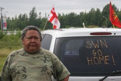 Eslipogtog War Chief John Levi. [Photo: Miles Howe]