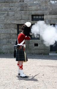 Halifax Citadel Guard Firing Gun