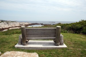Inviting Bench at Peggy's Cove Lookoff