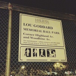 Halifax Peninsula HRM Off-Leash Sports Fields - Lou Goddard Memorial Ball Park