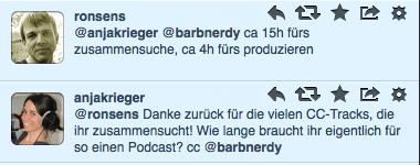 Machtdose Podcast, Ronsens, Anja Tweet:
