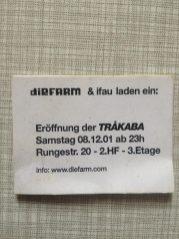 2001 Opening TRAKABA_Wochentagsbar
