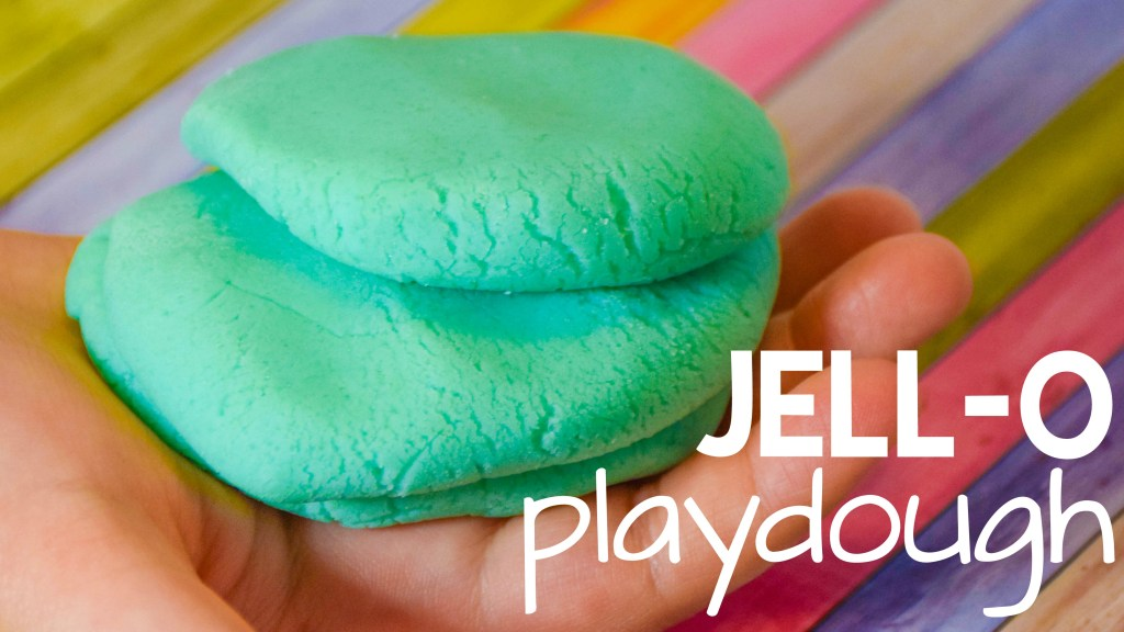 Make Jell-O Playdough