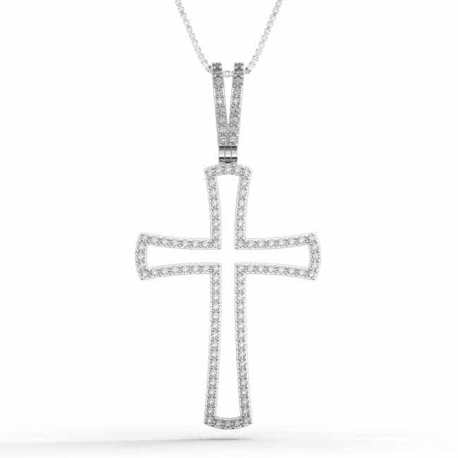 925 Sterling Silver Cross Necklace for Women