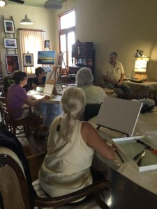 Michael Windberg teaching oil painting at the Hallet Oak Gallery!