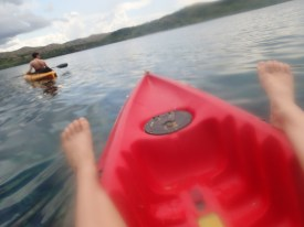 We still took time to relax in the kayaks.