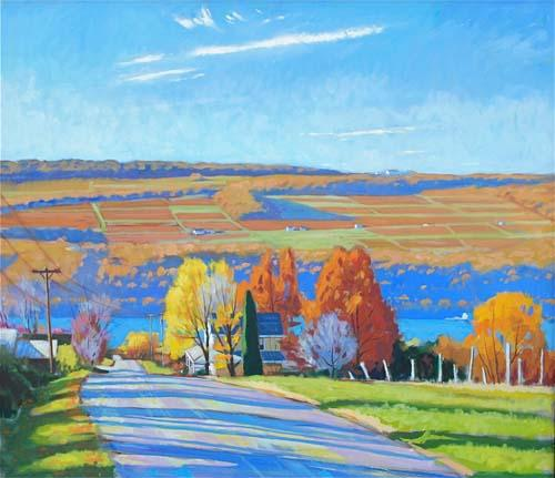 Keuka Autumn oil on linen on panel, 26 x30 $2,800 SOLD