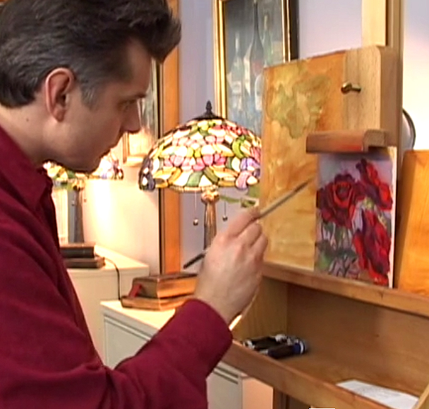 video how to paint roses