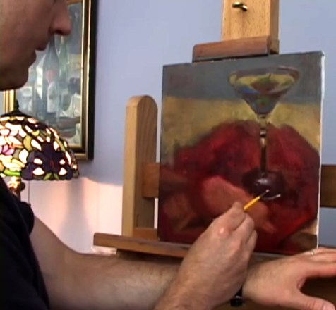 painting glass video