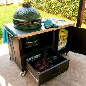 big green egg portable cooking station