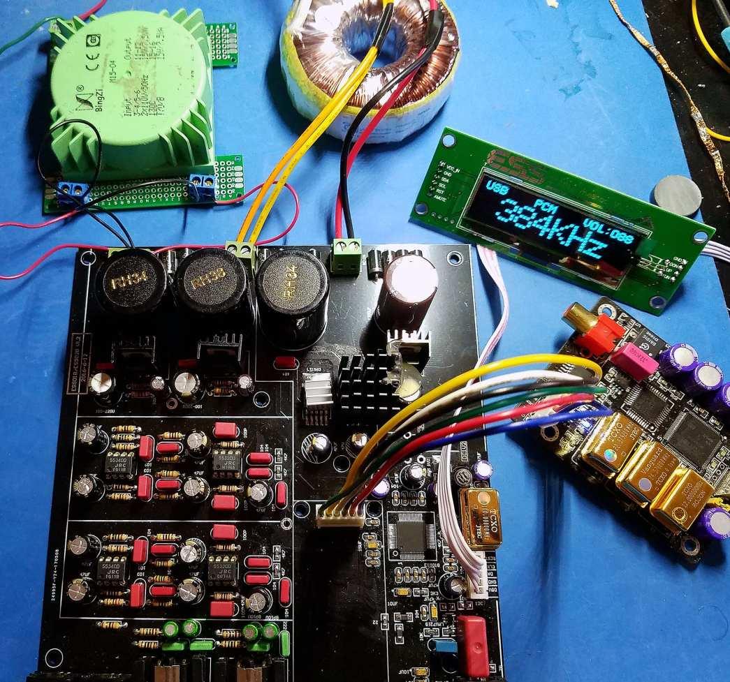 Amanero + ES9038Pro DAC OLED 384kHz_sm