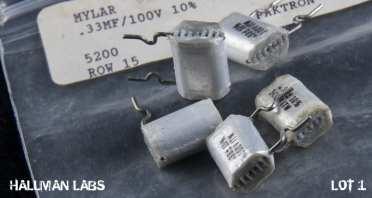 Paktron RA PC Mylar Foil .33uF 100V Pic 2