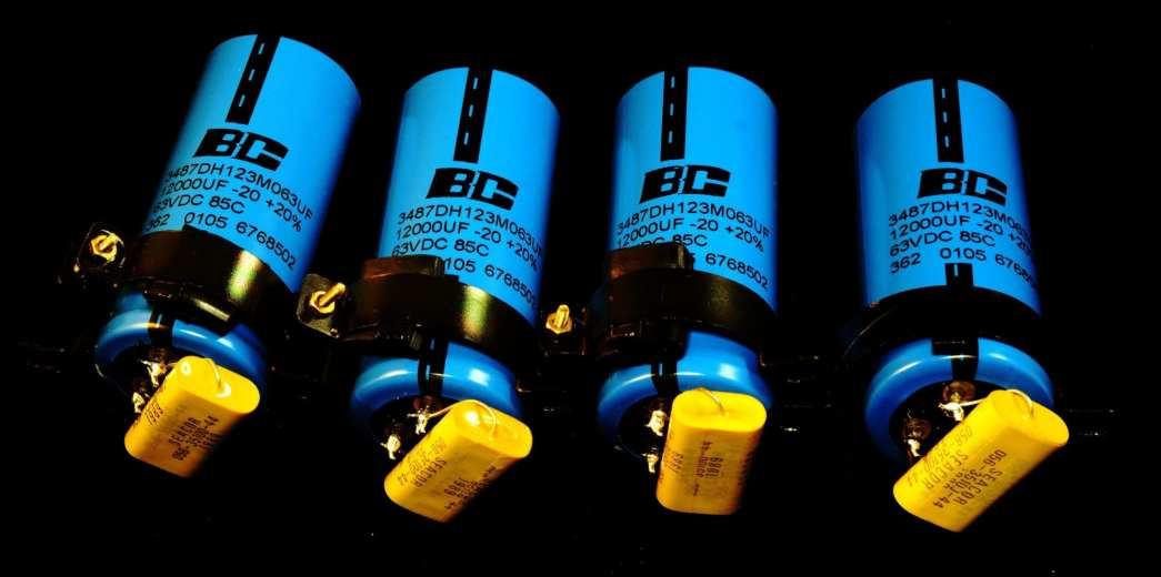 BC Philips 12,000uF 63V Seacor Film 1uF 100V