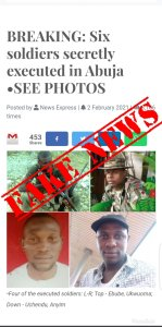 The Army flagged report as fake news