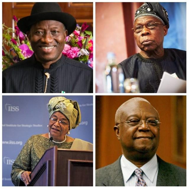 Goodluck Jonathan, Olusegun Obasanjo, Ellen Johnson Sirleaf, Amos Sawyer
