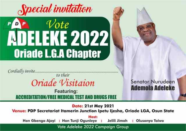 Vote Adeleke 2022