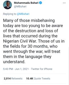Buhari tweet