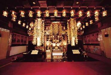 Der Gebetsraum des Tempels