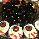 Scary Foods for Halloween — Blood Shot Deviled Eggs