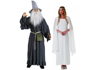 Couples Costumes:  Gandalf and Galadriel – The Hobbit & Lord of the Ring