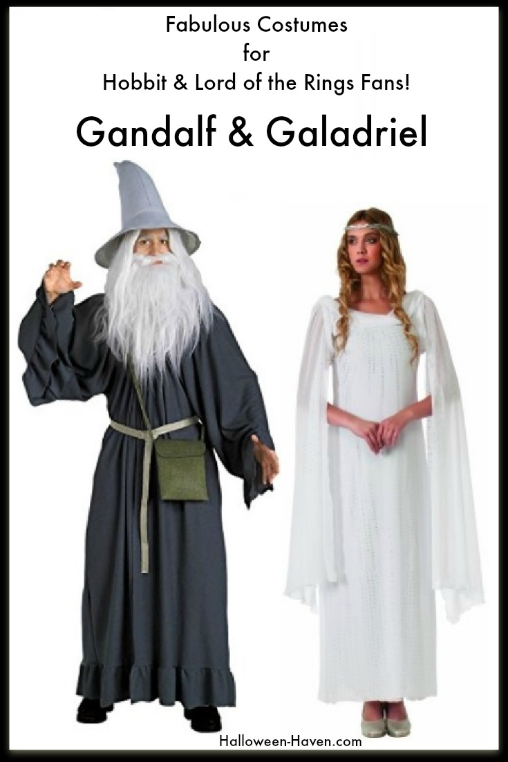 Lord of the Rings Halloween Costumes - Gandalf & Galadriel make perfect couple costumes