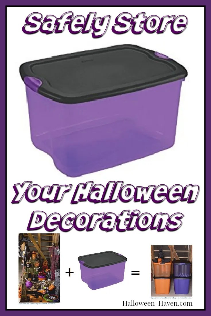 Halloween Storage Boxes for Halloween Decorations