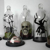 How to Make Spooky Halloween Soda Bottle Bell Or Cloche Jars