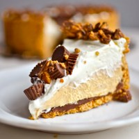 Deep Dish Peanut Butter Pie with Chocolate Covered Pretzel Crust
