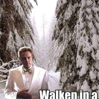 Walken In A Winter Wonderland...