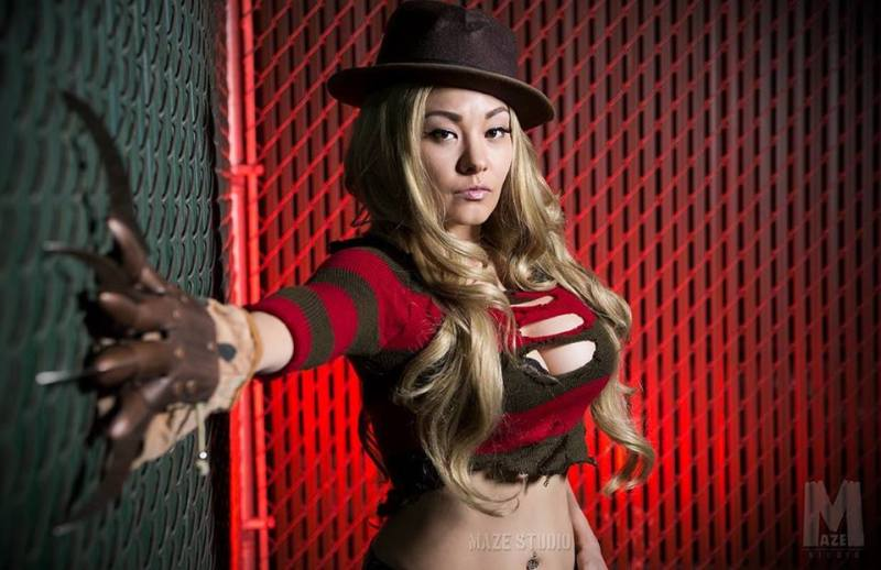 Ani Mia as Freddy Krueger. (photo by Maze Studio)
