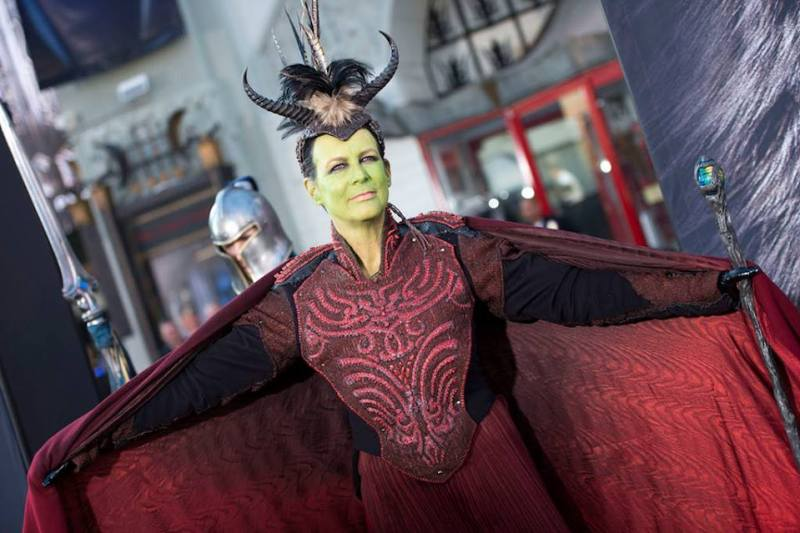 Jamie Lee Curtis as an Orc at the 'Warcraft' premiere