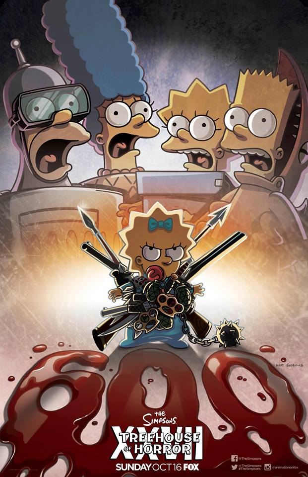 "'The Simpsons' ""Treehouse of Horror XXVII"" poster"