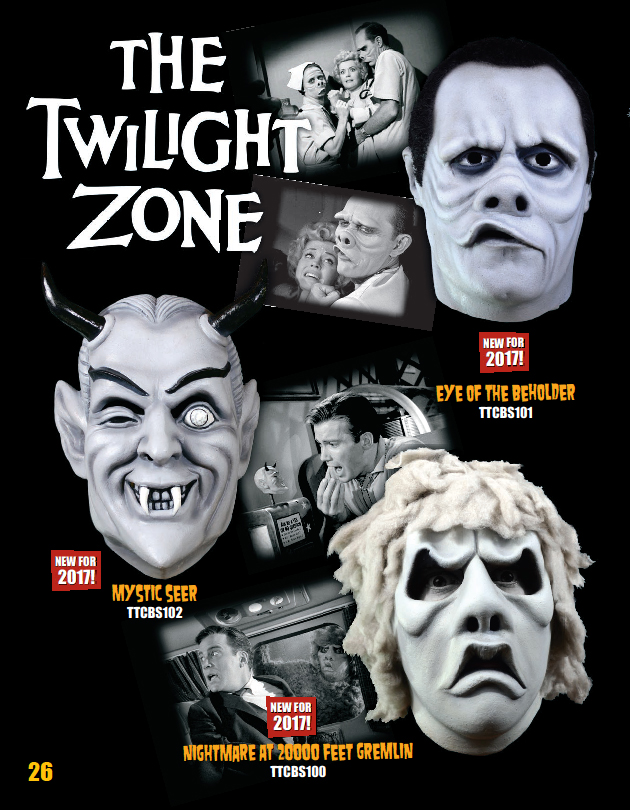 Trick Or Treat Studios Enters The Twilight Zone With New Masks Halloween Daily News