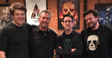 Team 'Halloween', Jason Blum, Malek Akkad, David Gordon Green, and Danny McBride.