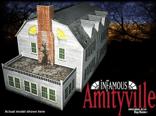 Amityville House Paper Model by Ray Keim/Haunted Dimensions