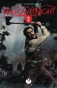 John Carpenter's 'Tales for a HalloweeNight Volume 3' cover by Tim Bradstreet.
