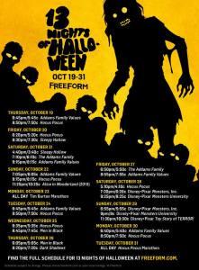 13-nights-of-halloween-2017-schedule