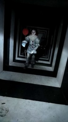 Blake Amerson as Pennywise at the Haunted Mill