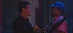 Dylan Walsh at Romeo Miller in 'Fright Fest'