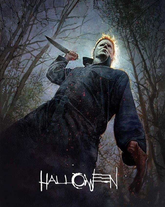 Halloween 2018 SDCC poster by Bill SienKiewicz