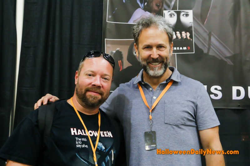 HDN's Matt Artz with Chris Durand at H40: Forty Years of Terror. (Photo by Sue Artz for Halloween Daily News.)